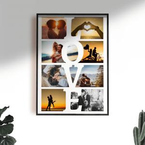 колаж от снимки love